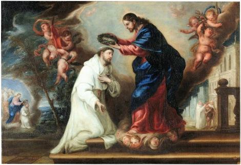 1673_Diego Gonzalez de la Vega_S Raymond Nonnatus Crowned by Christ_1673_Prado