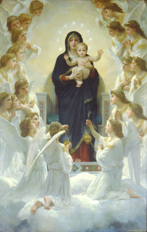 William-Adolphe_Bouguereau_The_Virgin_With_Angels